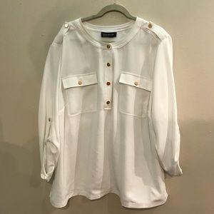 Jones New York Collection Woman White Blouse